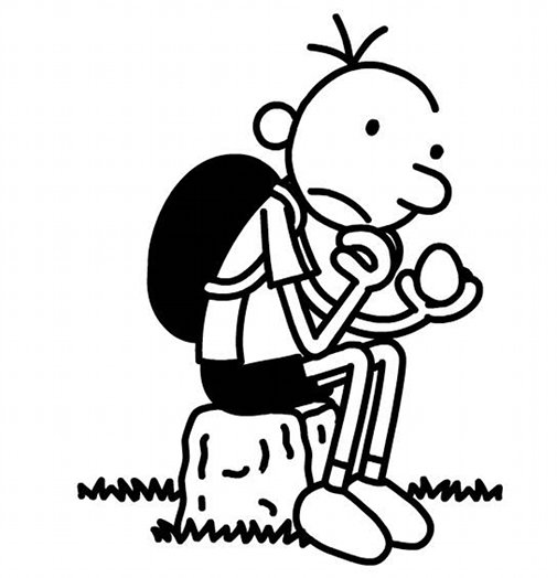 Guest blogger jeff kinney the blog for Wimpy kid coloring pages