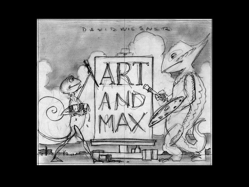 Art and Max title sketch