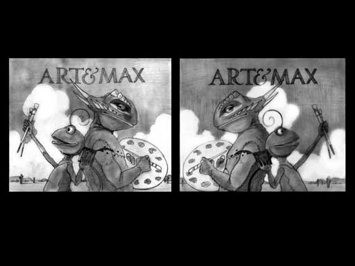 Art and Max back to back