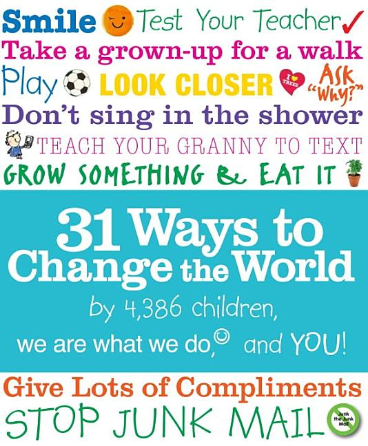 31 Ways to Change the World